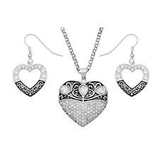 Montana Silversmiths Vintage Charm Heart Jewelry Set