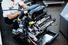 (McLaren MP4/2B's) TAG-Porsche TTE PO1, 1,499 cc (91.5 cu in), 90° V6, turbo, mid-engine, longitudinally mounted (Great Britain 1985)