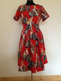 Emery dress @christinehaynes in Hot Wheels Alexander Henry fabric