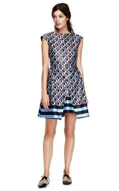 Printed Satin A-Line Dress by Suno - Moda Operandi