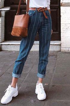 9d122c2134 Sexy stripe blue jeans - dark blue / S. Fifty Not FrumpyFashion Over 50Old  WomenDenim ...