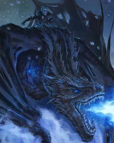 The Night is Dark & full of Terrors 💀🐲❄❄❄🔥🔥🔥 #gameofthrones #nightking #whitewalker #dead #asongoficeandfire #got #got7 #winterishere #dragon #fantasy #movie #fanart #hbo #series #show #art #artist #paint #digital #digitalart #digitalpainting #instaart #instadaily #instadraw #instaartist #creature #georgerrmartin