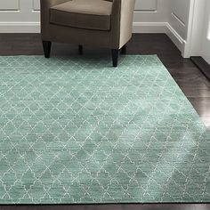 Tochi Robin Blue 8'x10' Rug in All Rug Collections | Crate and Barrel