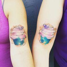 Watercolour cupcakes ♥