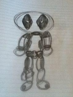 Deadpool circle sketch