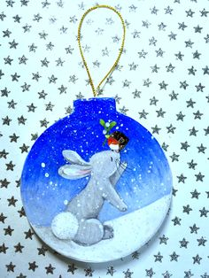 Rabbit rabbit rabbit! Hand painted christmas decorations... https://www.etsy.com/uk/shop/MooredInWhitstableUK?ref=hdr_shop_menu&section_id=17934459