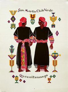 Trajes Indígenas de Guatemala, Carlos Mérida. San Martín Chile Verde, Quetzaltenango
