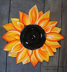 Sunflower Front Door Decor, Door Hanger, Flowers, Spring, Summer, Garden Decor,Home Decor, Sunflower Decor by AlderAndAshDesigns on Etsy