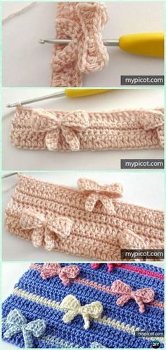 In-Between Crochet Bow Stitch Free Pattern - Crochet Bow Free Patterns