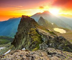 Beautiful sunrise in the Fagaras Mountains, Carpathians, Transylvania | 5…
