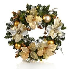 Winter Lane Pre-Decorated, Battery-Operated Wreath
