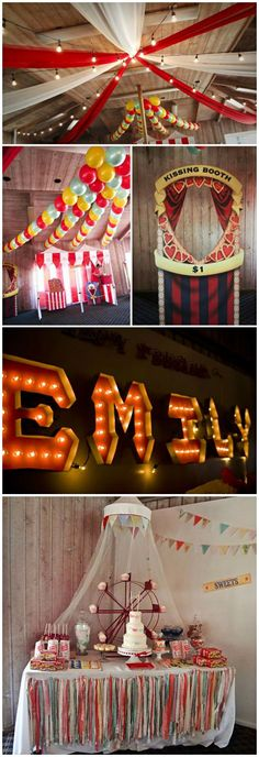 Party Theme ●  vintage circus birthday party @ Stacipetersen. Funny how these ideas that fit her party keep popping up!