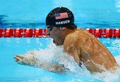 Swimming: Day 2 Finals - Swimming - Brendan Hansen - 100m breaststroke bronze