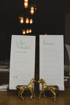 mint green paper goods, photo by Blake Loates http://ruffledblog.com/intimate-edmonton-wedding #papergoods #menu #wedding