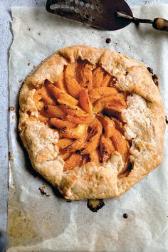 Apricot Galette Recipe | The Kitchn (This apricot galette is much easier to make than pie and is perfectly imperfect. There's only one crust and not two so there's no need to crimp and because there's not really a top crust, you're left with pastry that doesn't demand perfection, one where an uneven edge or a burnished bump are charming. It's the perfect thing when you're expecting guests.)