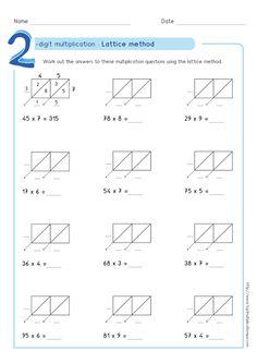9 best lattice multiplication images lattice multiplication math activities math problems. Black Bedroom Furniture Sets. Home Design Ideas