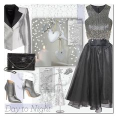 """""""Day to Night: Holiday Party"""" by j-sharon ❤ liked on Polyvore featuring Avenue, Relaxfeel, Topshop, Emporio Armani, STELLA McCARTNEY, Ralph Lauren Collection and HolidayParty"""