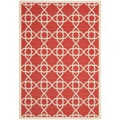 @Overstock - This outdoor rug has a brown background and displays stunning panel color of natural. This power-loomed rug is resistant to mold, mildew, sun, water and other elements.http://www.overstock.com/Home-Garden/Poolside-Red-Beige-Indoor-Outdoor-Rug-8-x-112/6624847/product.html?CID=214117 $220.09