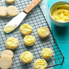 Lemon Meltaways Recipe -Both the cookie and the frosting are spiked with lemon in these melt-in-your-mouth goodies. Field editor Mary Houchin of Lebanon, Illinois submitted the recipe.