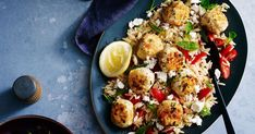 This easy Greek chicken meatballs and pasta warm salad is ready in 30 minutes.