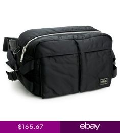 b7aa8073fe4 YOSHIDA PORTER TANKER 2 way waist shoulder bag Black 622-08302 Made in  Japan FS