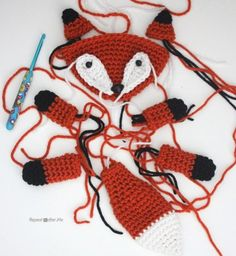 Crochet Fox Lovey Blanket - Repeat Crafter Me