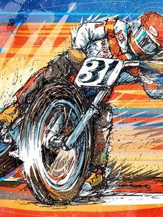 "douglas-macrae: ""1976 Ron Wood built Norton flat tracker- this bike is the #44 machine that won the Ascot National in '78; Nortons last victory ©Douglas MacRae """