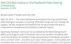 ANA Slams Facebook For Lack Of 'Transparency,' Calls For Audit