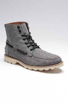 tweed herringbone boot