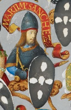 Martin Sanches, bastard son of King Sancho I of Portugal. History Of Portugal, Spain And Portugal, Portuguese Royal Family, Book Of Hours, Royal House, Medieval Art, British Library, Coat Of Arms, Country Of Origin