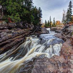 A spectacular shot of the falls at Northern Minnesota's Temperance River State Park by (at)waynemoranmn!
