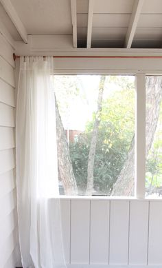 Create a custom curtain rod with a few supplies from the hardware store. It's a quick & easy DIY project that fits any window!