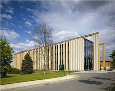 Strawbale and Cross-Laminated Timber: Prefab Gateway Building By MAKE