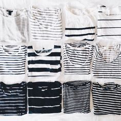 I need stripe tees.  Sad, I only have one.  Long sleeves not necessary because of humid climate in Hawaii.