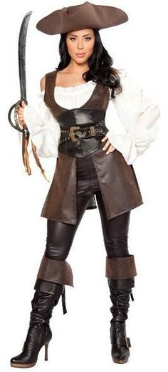 Aliexpress.com : Buy 2013 New Women Sexy Pirate Halloween Cosplay Costume Long Faux Leather Sleeves Performance clothing Uniform Hat from Reliable 2013 New Devil costumes Pirate Costume For Women Halloween Clothes Pirate Uniforms suppliers on Women's Fashion Clothing  Dress Shop $55.69