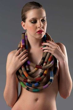 Colorful Cardboard Accessories - Creazioni Zuri Creates Statement Recycled Paper Jewelry Pieces (GALLERY)