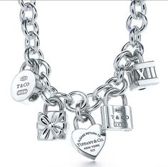 Jewelry -- Tiffany and Co. Charm Bracelet. I wish they would make a Sono charm so my world can be complete lol