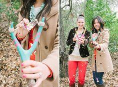 DIY: Confetti Slingshot | Green Wedding Shoes Wedding Blog | Wedding Trends for Stylish + Creative Brides