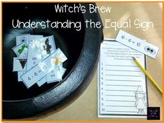 Witch's Brew Understanding the Equal Sign- true/false math center sorts for teaching the meaning of the equal sign $