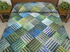 Underground Blues Quilt -- exquisite carefully made Amish Quilts from Lancaster (hs6197)