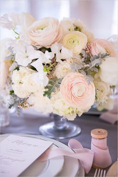 Spring wedding centerpiece ideas. Floral Design: Madame Artisan Fleuriste ---> http://www.weddingchicks.com/2014/06/11/tips-for-your-paris-wedding-elopement/