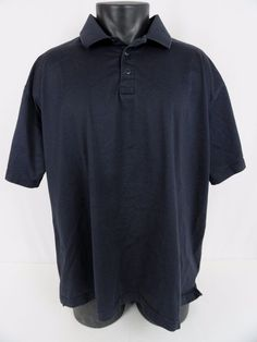 "5.11 Tactical Men 2XL Navy Blue SS Polo Shirt 100% Cotton 54"" Chest Lightweight  #511Tactical #PoloRugby"