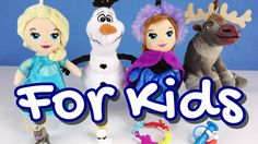 Disney Frozen Mini Plush Dolls with Kinder Surprise Eggs - fun video for kids