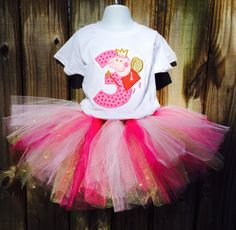 Peppa Pig Handmade Birthday Outfit by TeenyTurtleBoutique on Etsy