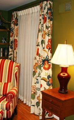 Custom Drapes, Custom Drapery, Drapery, Schumacher Fabric, Curtains, Fabric Samples, Homeowner, Drapestyle, Home Decor