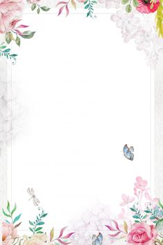 Spring hand painted flowers beauty background flower essential oil Source by melissastefania background Mother's Day Background, Flower Background Wallpaper, Valentines Day Background, Beauty Background, Flower Backgrounds, Background Patterns, Page Borders Design, Border Design, Fleur Design