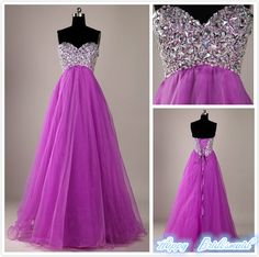 108.00$  Watch now - http://virle.justgood.pw/vig/item.php?t=u0suew9575 - Purple Tulle Prom Dress, Floor Length Prom Gown, Long Evening Dress,Lace Up Back
