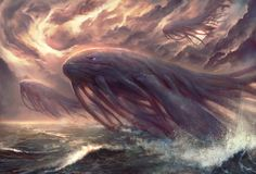 Mythical Creatures Art, Alien Creatures, Fantasy Creatures, Sea Creatures, Alien Concept Art, Creature Concept Art, Creature Design, Cool Monsters, Sea Monsters