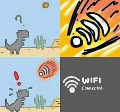 Funny Wi-Fi killed the dinosaurs =))))))) The Effective Pictures We Offer You About Memes para contestar A quality picture can tell you many things. Crazy Funny Memes, Really Funny Memes, Stupid Funny Memes, Funny Relatable Memes, Haha Funny, Fun Funny, Memes Humor, Shrek Memes, Meme Meme