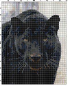 Cross Stitch Pattern Black Panther Cat by theelegantstitchery, $10.00